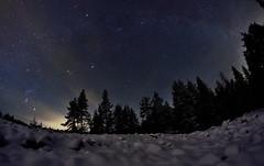 Milkey way and Geminids meteor shower (m.martinsson87) Tags: winter sky snow night way stars shower stones space astro andromeda galaxy orion meteor geminids milkey
