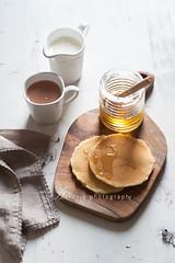 pancake & honey (asri.) Tags: drink honey onwhite foodphotography 2015 85mmf14 foodstyling