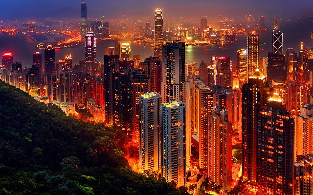 china-hong-kong-night