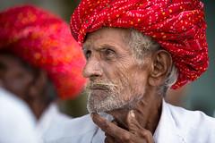 Inde: dans le village de Jojawar (Rajasthan). (claude gourlay) Tags: inde india indedunord northindia claudegourlay retrato ritatti portrait turban jojawar rajasthan rebari rabari people face caste