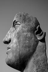 Open Mind (weirdo_with_a_beardo) Tags: pompeii italy sculpture open minded mind head texture black white monochrome art face