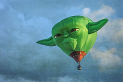 You must unlearn what you have learned.  Yoda (Karol Franks) Tags: albuquerque international balloon fiesta newmexico 2016 teamcanon skyclouds yoda starwars soaring whimsy flying hotair airship sailing morning dawn wisdom special shaped