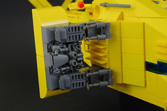 Renault Hirondelle (08) (F@bz) Tags: starfighter spaceship lego sf space moc scifi renault