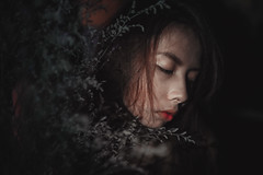 IMG_3410 (Vuong Quoc - Photomanipulation) Tags: manipulation portrait girl flower lowekey lowkey