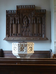 Font & Reredos, Plungar (Aidan McRae Thomson) Tags: plungar church leicestershire victorian font reredos