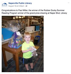 "Paul Wins the Rubber Ducky Summer Reading Program Grand Prize • <a style=""font-size:0.8em;"" href=""http://www.flickr.com/photos/109120354@N07/30158295510/"" target=""_blank"">View on Flickr</a>"