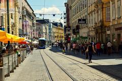 Linz (Austria) (jens_helmecke) Tags: strasenbahn fahrzeug stadt city linz gebude architektur sterreich austria nikon jens helmecke