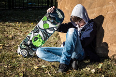 A Boy and His Board (Chris Lemmen (PIL Photo)) Tags: 2016 50d brooding gritty grungy hoodie jacob jrhighshoot skateboard