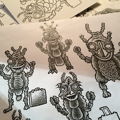 Breakfast sketches (Don Moyer) Tags: minion sketch drawing ink moyer donmoyer brushpen
