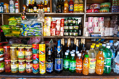 Typical store (whitworth images) Tags: general asia shelves himalaya crowded himalayas wares bhutan bottles beer drink cans wangduephodrang travel goods wangdi food colourful small shop colorful store fosters wangduephodrangdzongkhag