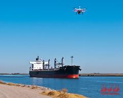 Sagat Jyoti 216 LR (bradleybennett) Tags: cargo vessel ship shipping delta water river ocean tanker antioch sagatjyoti sagat jyoti port stockton drone