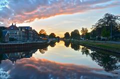 Nieuw Amsterdam (Rene Mensen) Tags: nieuw amsterdam water sunset rene reflection tree drenthe mensen thenetherlands