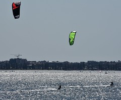 feel free (sabinakurt62) Tags: people man kite surfing sea ocean sky beautiful waves spring sydney australia nikon