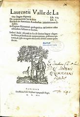 Valla-Title page-1541 (melindahayes) Tags: 1541 pa2320v351541 vallalorenzo elegantiae estiennerobert quartoformat latin