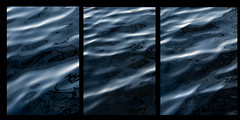 Dark water triptych (Anniison) Tags: dark water oily slick black