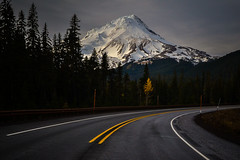 Hwy 35 (LukeDetwiler) Tags: mthoodnationalforest mt hood hwy 35 fall road mountain snow dark commute home oregon