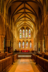 Southwell Minster interior (A.I.D.A.N.) Tags: southwell southwellminster chancel choir altar stainedglass window windows nottingham nottinghamshire notts canon canon5dmarkii canon5dmkii canoneos5dmarkii hdr photomerge interior architecture cathedral minster church highdynamicrange arches arch wood carving carved colour