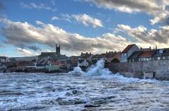Stormy seas at Dunbar, Scotland (Baz Richardson (catching up again!)) Tags: scotland eastlothian dunbar stormyseas roughseas coast towns