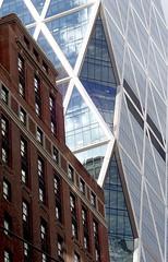 Broken Sky (Shu-Sin) Tags: architecture new york city building buildings sky reflection glass blue scraper brick skyscraper triangles