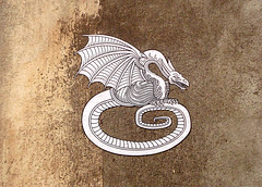 DRAGON CREST (streetwarriors) Tags: ludwig ludwigraphik collage kogi streetart streetwarriors paste up