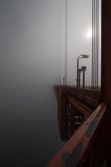 Disappear (the CAMera of ian CAMpbell; simple) Tags: fog golden gate bridge san francisco sf usa us california red foggy weather bad