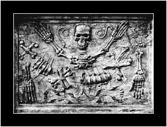 Tomb of the Dead (SK Monos) Tags: monochrome blackandwhite iconography sacred tomb dead death texture gothic surreal abstract narbonne