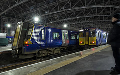 314203 & 380017 (Rossco156433) Tags: scotland glasgow glasgowcentral train electric motor class314 emu scotrail abellio nederlandsespoorwegen brel britishrail ac traction 314203 class380 siemens desiro