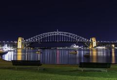 Blue's Point - Sydney Harbour Bridge (Lenny K Photography) Tags: sydney australia syd aus oz things do harbour bridge harbor shb tourism free cc creative commons lennykphotography landscape cityscape nightscape nikon d800 2470mm sigma 2470 f28 nsw travel holiday point north blues mcmahons photo wow