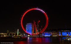 London's Red Eye... (Dan Elms Photography) Tags: london eye londoneye londonskyline cityoflondon londoncity cityscape night nighttime longexposure christmas