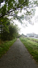 Trackbed near Queensway +  Princess Close, Scarborough(Scarborough - Whitby  old railway (dave_attrill) Tags: scarborough whitby disused line trackbed route cinder path dr beeching report 1965 ner north eastern railway october 2016 scalby