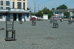 Plac Bohaterow Getta, Krakow (stephengg) Tags: krakow cracow poland plac bohaterow getta empty chair memorial jewish ghetto