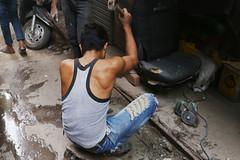 Organically Produced Muscles (Mayank Austen Soofi) Tags: delhi walla man boy arm labour jeans organically produced muscles gym body