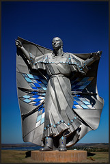 Dignity 7754 (GlasseyeA) Tags: dignity indigenous lakota nativeamerican plains sky stainless statue woman