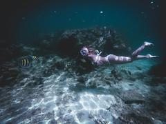 Underwater life (Juha Helosuo) Tags: bikini girl fisheye nemo fish coral reef nature water ocean vitamin sea life travel gopro photography snorkeling diving swimming beautiful crystal clear