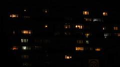 granard house e9, from bradstock road, at night, 2016-11-20, 20-13-07 (tributory) Tags: london eastlondon hackney e9 houding councilhousing social housing windows night light lighting tenants people rectangle pattern abstract urban block flats apartments residents