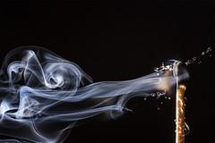 """Week 48: Theme: """"Air/Wind"""" Not Just Blowin' Smoke (sumoetx) Tags: fire flame water droplets 52 weeks 2016 52weeksof2016 week48 air wind blowing blowin smoke match flash strobist ocf cactusv5 yn560 d750 nikon 50mmf18 tabletop macro closeup sumoetx howard jackman splash element utah utahresident utahstrobist challenge 52weeks photoshop composite"""