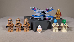 Spaceship & Crew (Busted.Knuckles) Tags: home toys lego minifigures stormtroopers aliens bb8 xwingfighter ricohgr dxoopticspro11 c3po