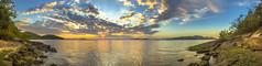 Laranjeiras (Diego S. Mondini) Tags: sunset prdosol nuvens clouds sofranciscodosul santacatarina brasil brazil mar sea seascape landscape paisagem panormica panoramic panormico sunbeam sunbeams baa bay babitonga baadababitonga