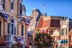 Main Street and Matterhorn (Samantha Decker) Tags: anaheim ca california canonef100mmf2usm canoneos550d canoneosrebelt2i disneyland mainstreetusa matterhorn samanthadecker