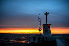 Night at the harbor at dusk (Ola.Orion) Tags: sweden sea coast coastline winter skne ocean harbor seascape dusk evening nikon d600 beacon lighthouse