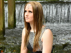 Sparkling. (pstone646) Tags: youngwoman younglady pretty portrait kent waterfall beauty people smile water