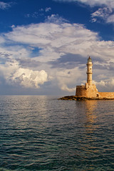 Chania_27_29112016-1013 (john houv) Tags: chania crete mediterranean oldharbour oldharbor lighthouse reflection