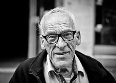Roy #228 (drmaccon) Tags: life street nottingham smile 35mm glasses fuji f14 character streetportrait oldman stranger coolportrait xe2 portraitofoldman fujixe2 oldermanportrait