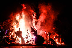 Las Fallas burns to the ground (ruslan.gorsky) Tags: barcelona city light art sahara valencia beauty statue festival fire nice fuji smoke flame coastal fez fujifilm magical lasfallas papermache asilah fallas spaniards x100s