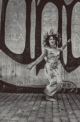 Geisha-thrash-modern by poet Olga Novak (Milena Nedbayeva) Tags: streetart art fashion trash modernart performance style collection plastic otherwise andeground