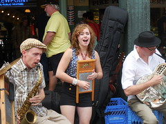 Feed The Frog - Aug 28, 2015 (jiff89) Tags: seattle music cats girl amber place live august frog singer feed busker jive pike hayes sax washboard barrelhouse 2015