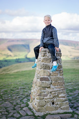 Mam Tor (jrobfoto.com) Tags: family vacation portrait england stone landscape ben personal derbyshire beacon edale highpeak mamtor castleton triangulationstation trigpoint