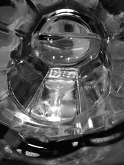 (aspidistraphy) Tags: blackandwhite bw abstract water glass monochrome mono cafe drink h2o bnw tempered temperedglass abstractsunset abstractsun
