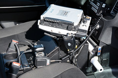Picture Of Equipment Inside Town Of Harrison NY Police Department Car 103 - 2015 Dodge Charger Taken At Their Open House On Sunday October 11, 2015 (ses7) Tags: ny town harrison police charger of departmentdodge