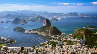 View of Pão de Açúcar (Sugar Loaf Mountain).  Rio de Janeiro  Brasil (see related photos in my Brazil Album)